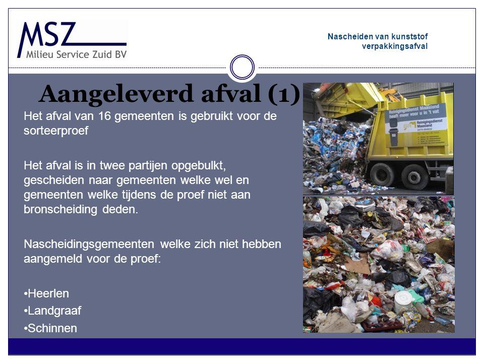 Nascheiden van kunststof verpakkingsafval