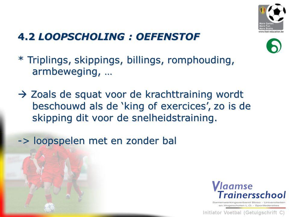 4.2 LOOPSCHOLING : OEFENSTOF