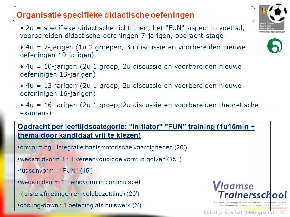 Organisatie specifieke didactische oefeningen