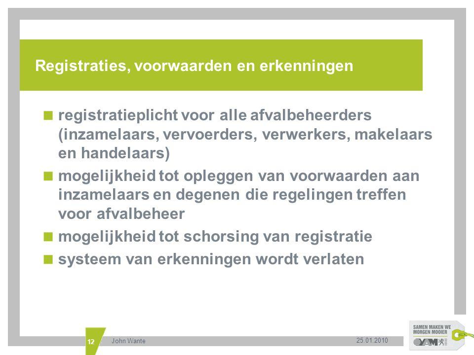 Registraties, voorwaarden en erkenningen