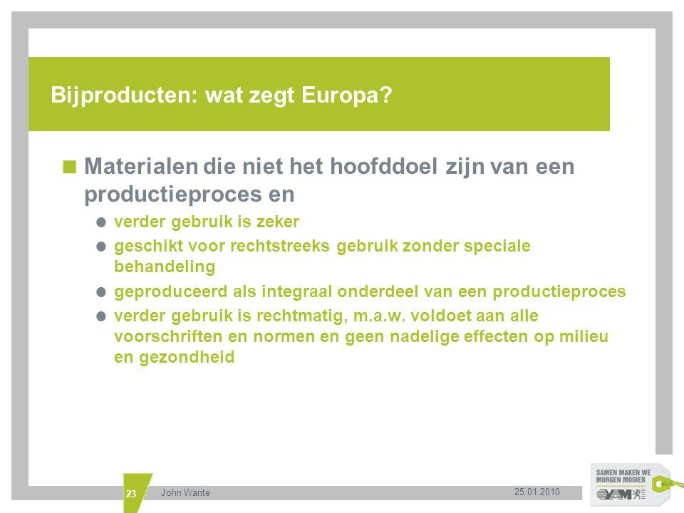 Bijproducten: wat zegt Europa
