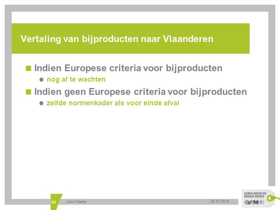 Vertaling van bijproducten naar Vlaanderen