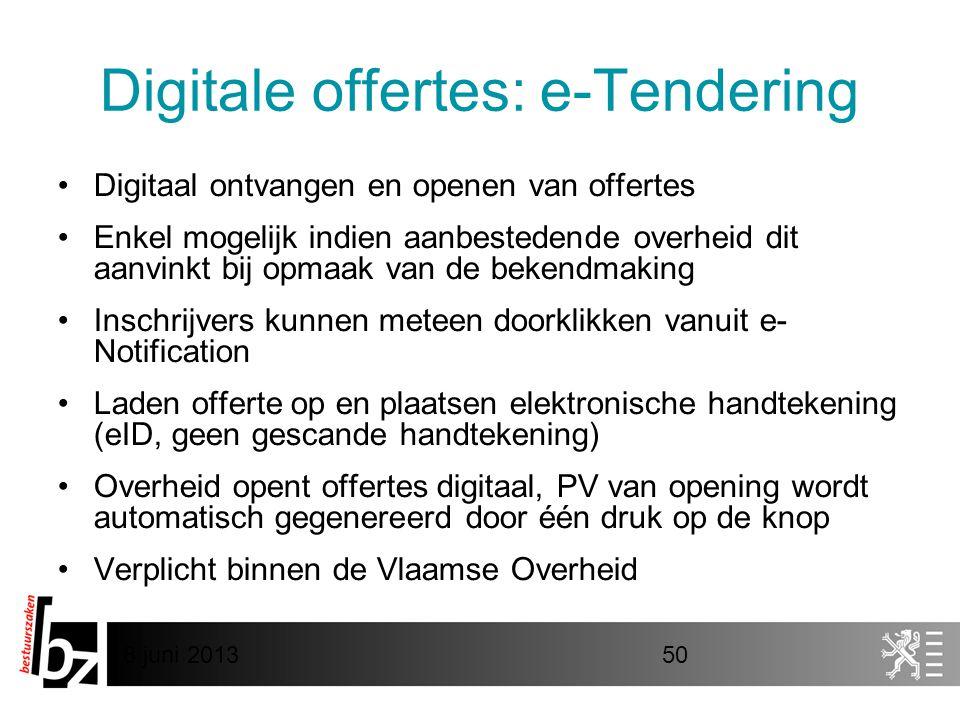 Digitale offertes: e-Tendering