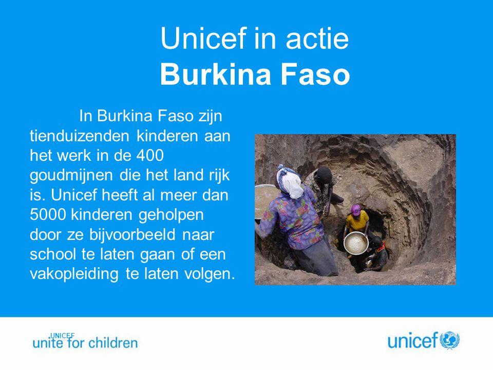 Unicef in actie Burkina Faso