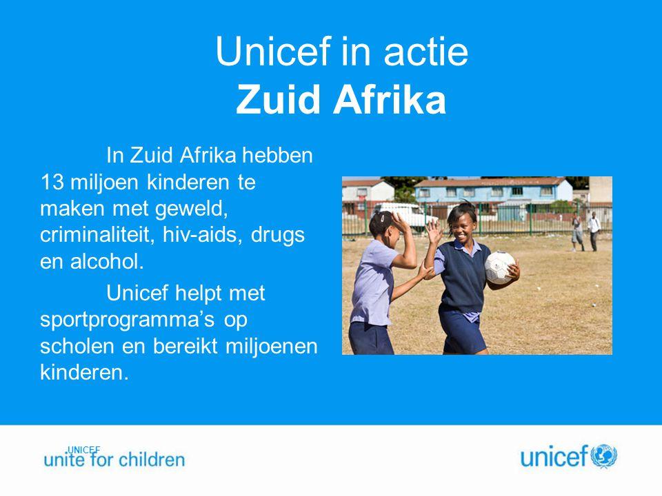 Unicef in actie Zuid Afrika
