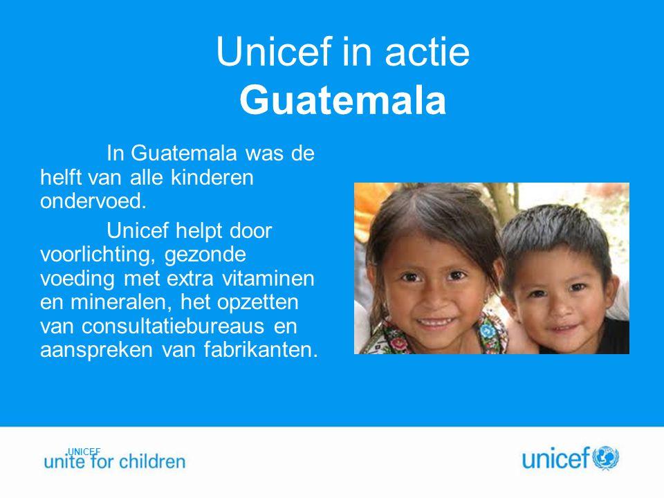 Unicef in actie Guatemala