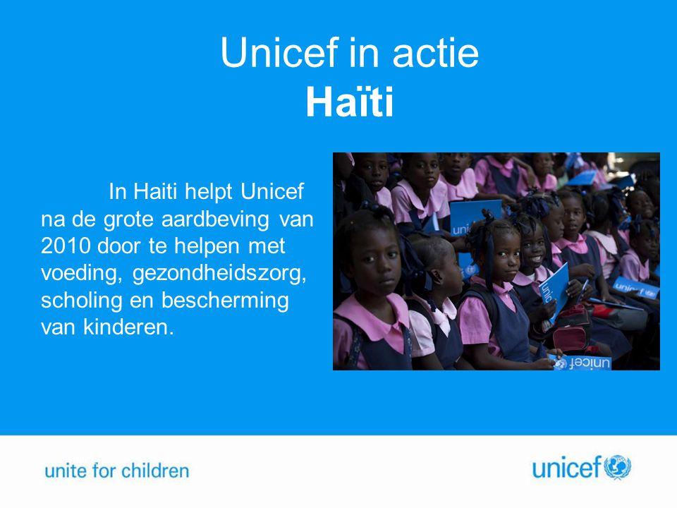 Unicef in actie Haïti
