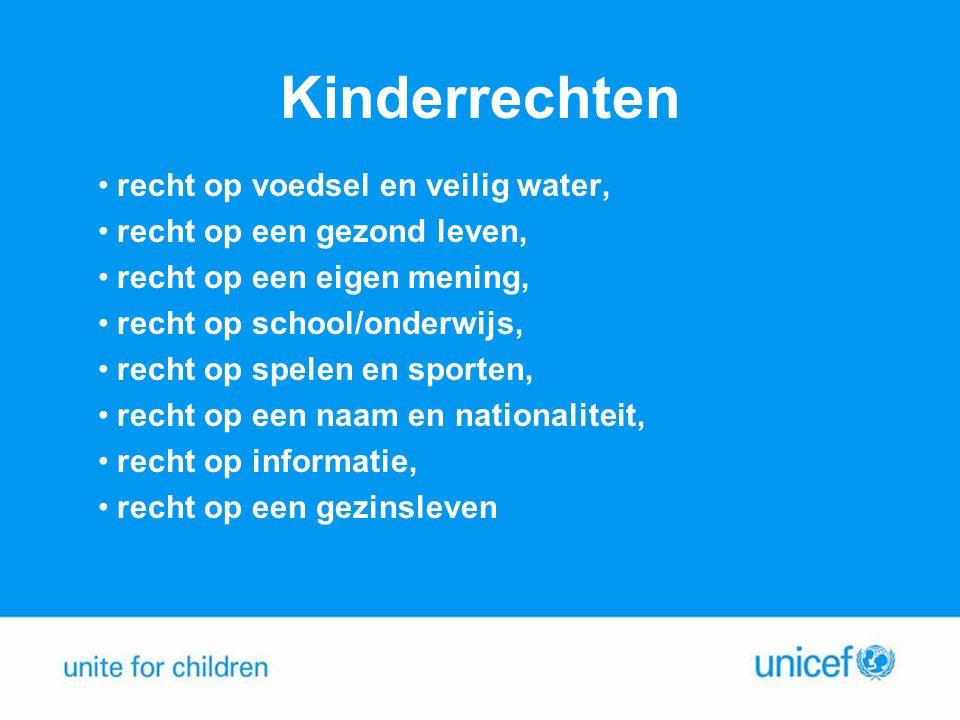 Kinderrechten recht op voedsel en veilig water,