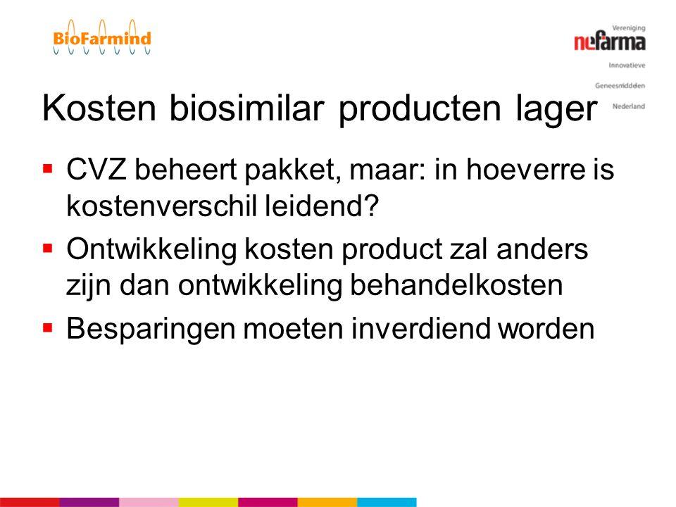 Kosten biosimilar producten lager