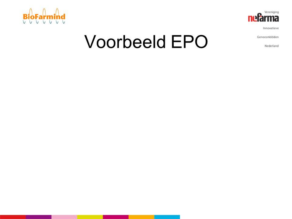 Voorbeeld EPO In het licht van PRCA.. zou het niet voor de hand liggen om… Maar toen was er een geïdentificeerd issue, en dat is er nu niet!