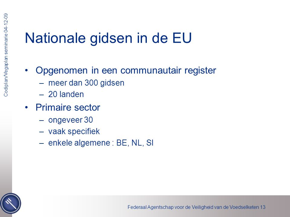 Nationale gidsen in de EU