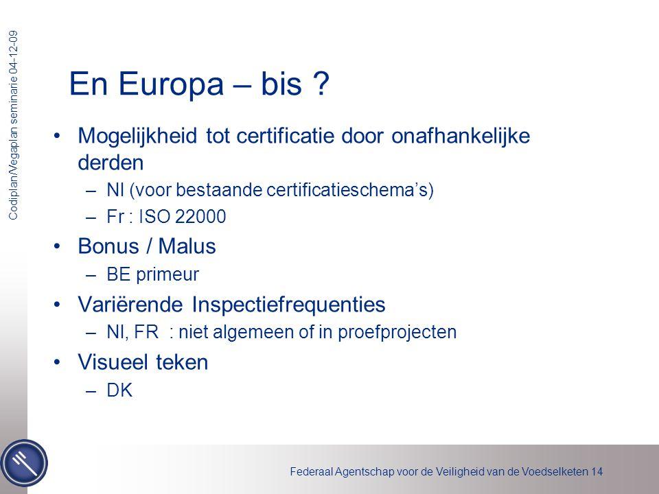 En Europa – bis Mogelijkheid tot certificatie door onafhankelijke derden. Nl (voor bestaande certificatieschema's)