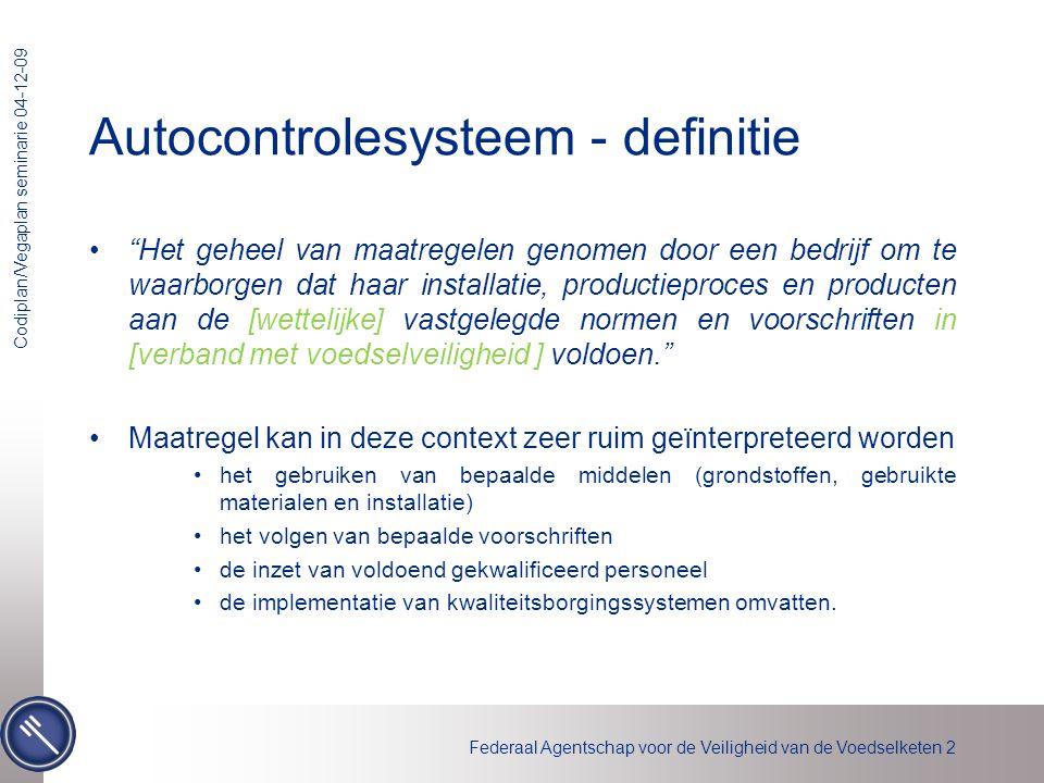 Autocontrolesysteem - definitie