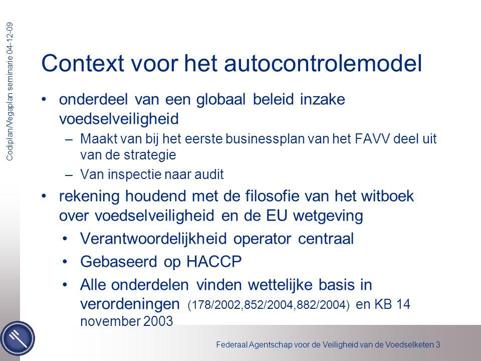Context voor het autocontrolemodel