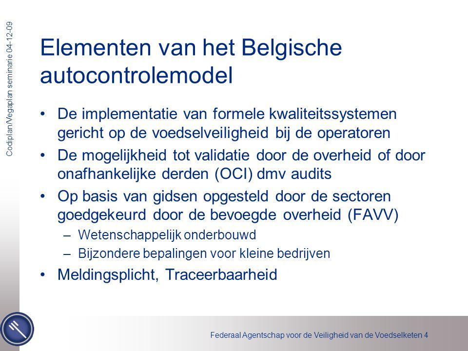 Elementen van het Belgische autocontrolemodel