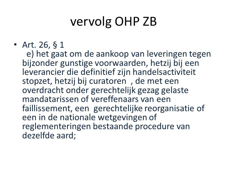 vervolg OHP ZB