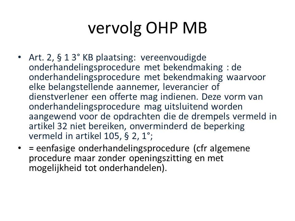 vervolg OHP MB
