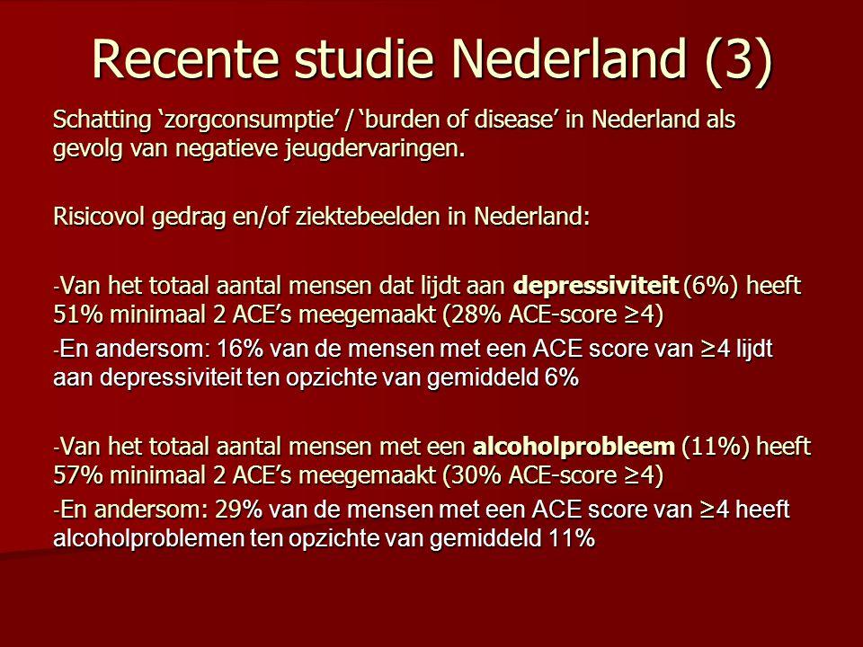 Recente studie Nederland (3)