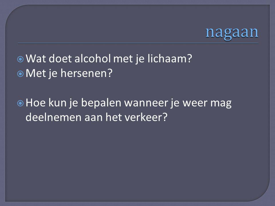 nagaan Wat doet alcohol met je lichaam Met je hersenen