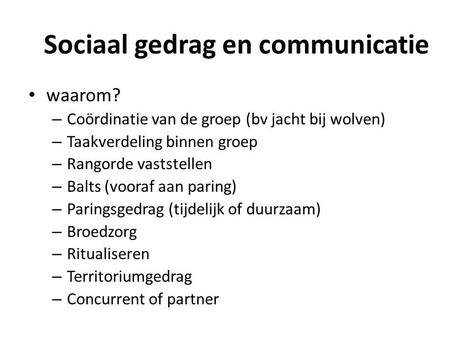Sociaal gedrag en communicatie