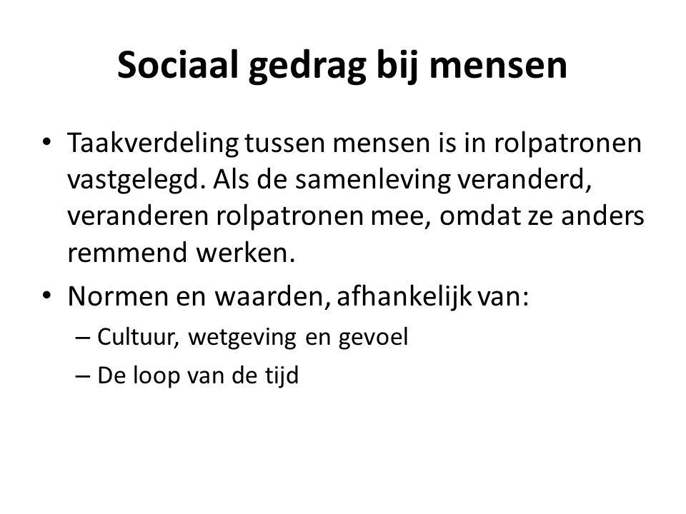 Sociaal gedrag bij mensen