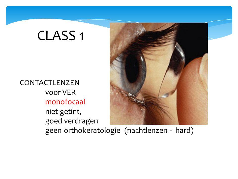 CLASS 1 CONTACTLENZEN voor VER monofocaal niet getint, goed verdragen