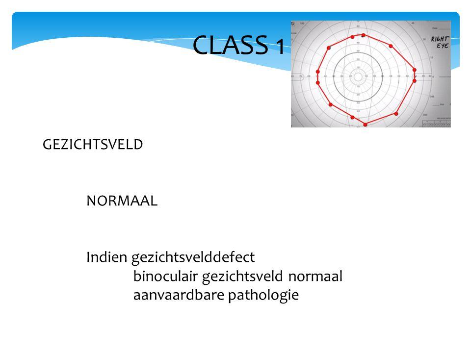 CLASS 1 GEZICHTSVELD NORMAAL Indien gezichtsvelddefect
