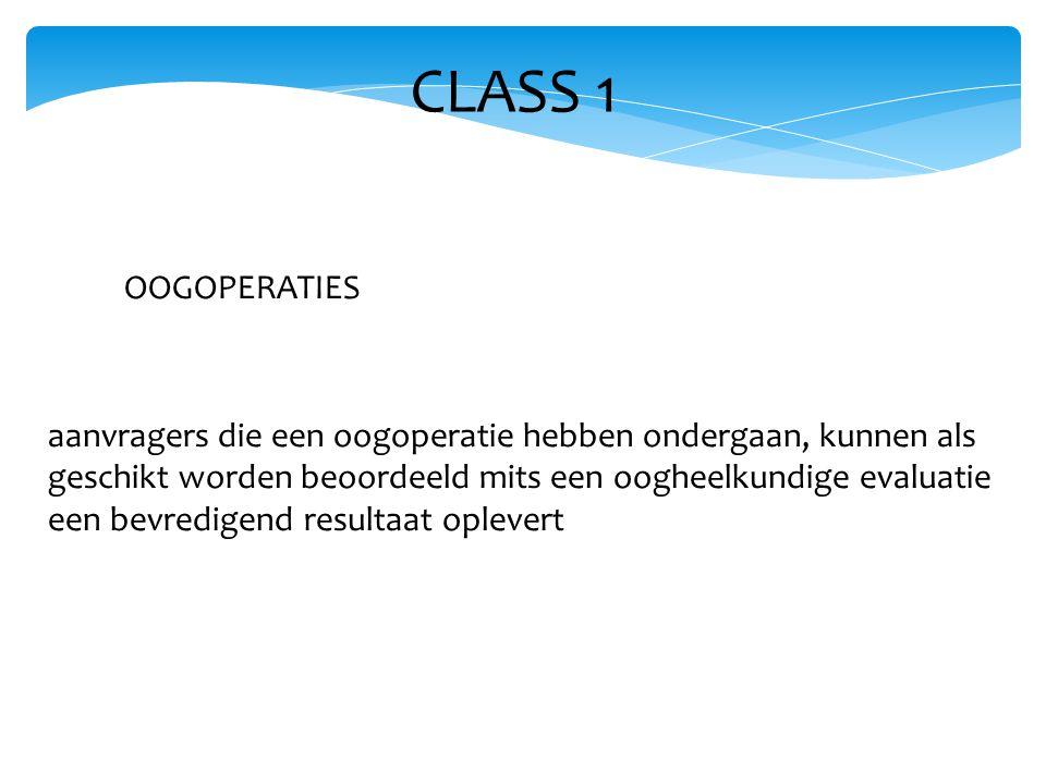 CLASS 1 OOGOPERATIES.