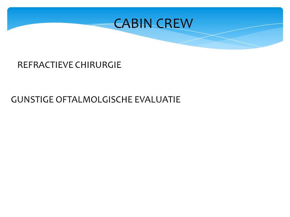 CABIN CREW REFRACTIEVE CHIRURGIE GUNSTIGE OFTALMOLGISCHE EVALUATIE