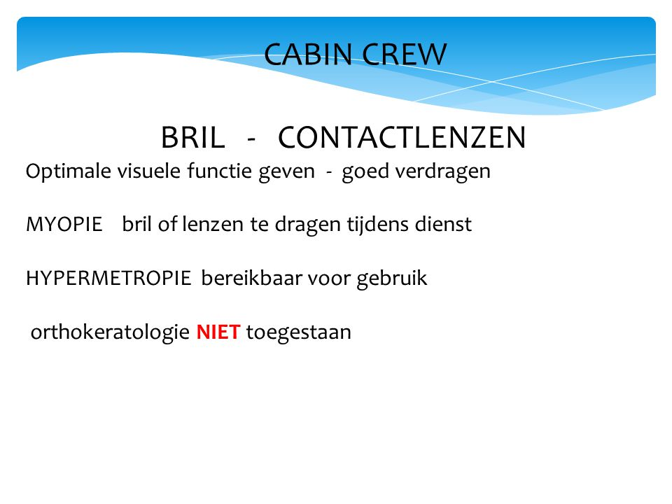 CABIN CREW BRIL - CONTACTLENZEN