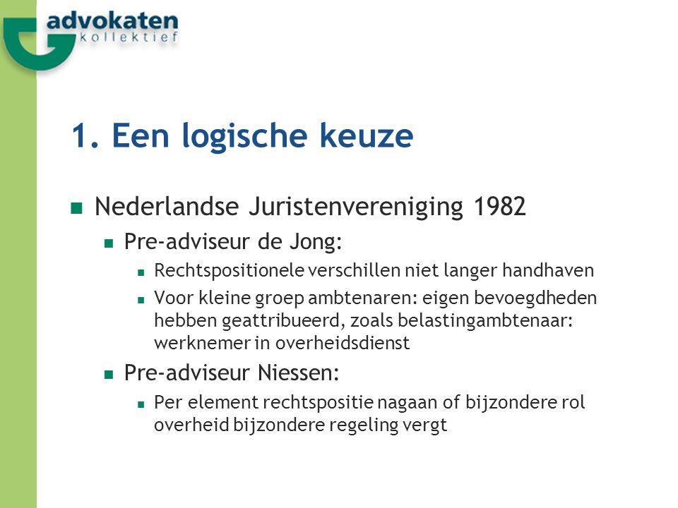 1. Een logische keuze Nederlandse Juristenvereniging 1982