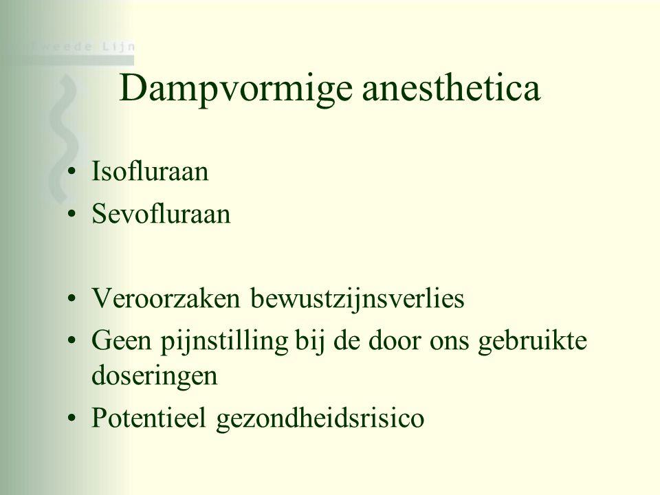 Dampvormige anesthetica