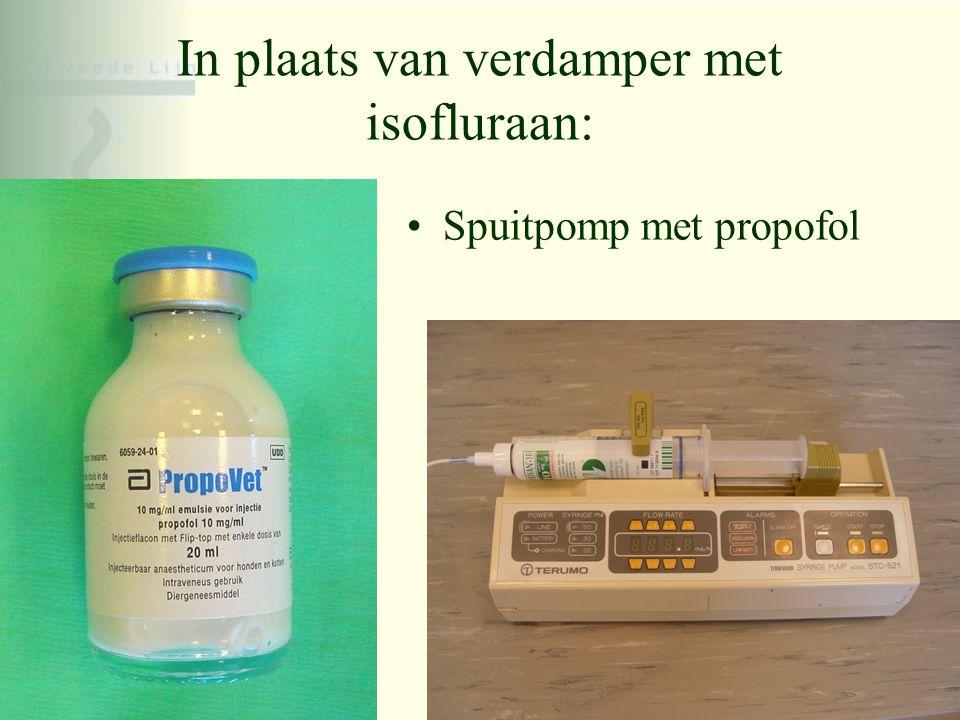 In plaats van verdamper met isofluraan: