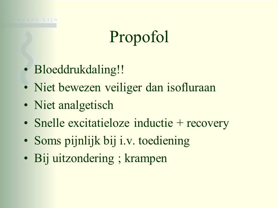 Propofol Bloeddrukdaling!! Niet bewezen veiliger dan isofluraan