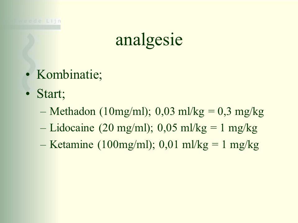 analgesie Kombinatie; Start;