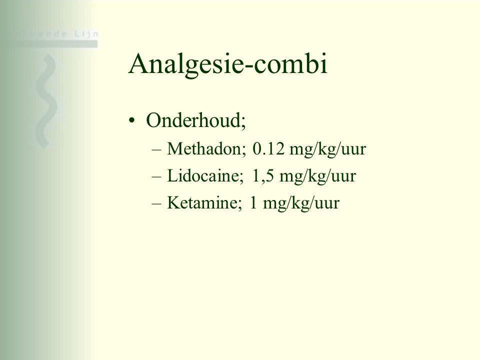 Analgesie-combi Onderhoud; Methadon; 0.12 mg/kg/uur