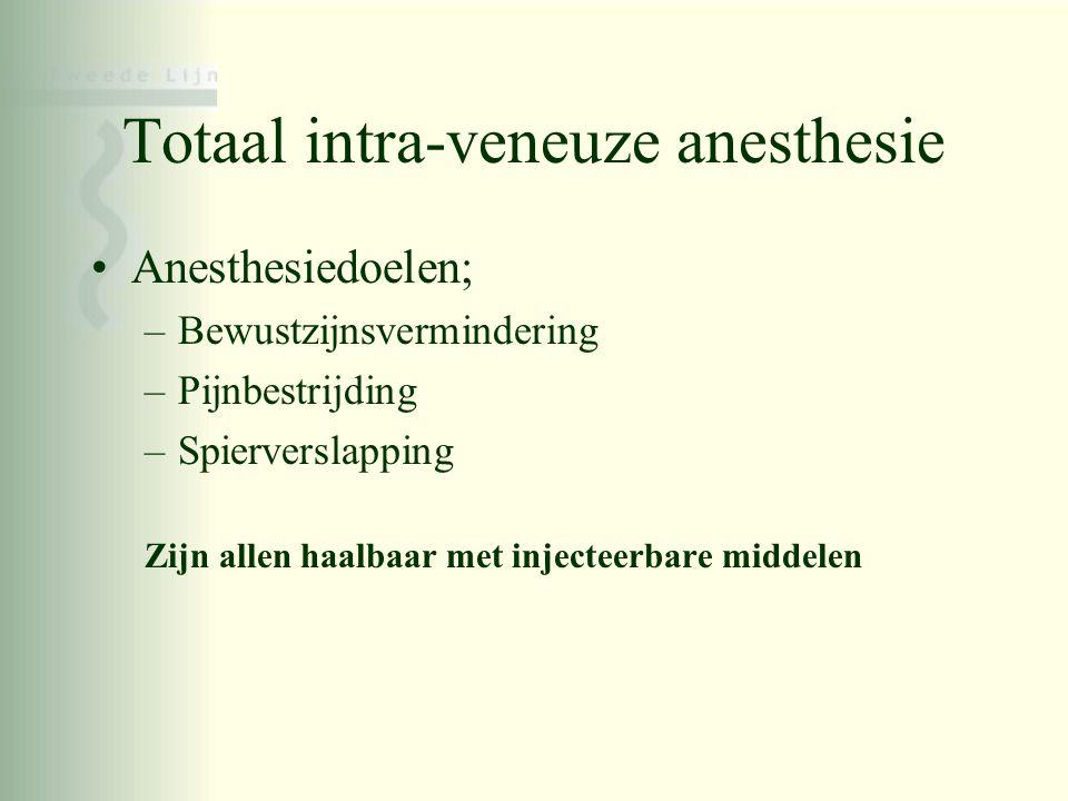 Totaal intra-veneuze anesthesie