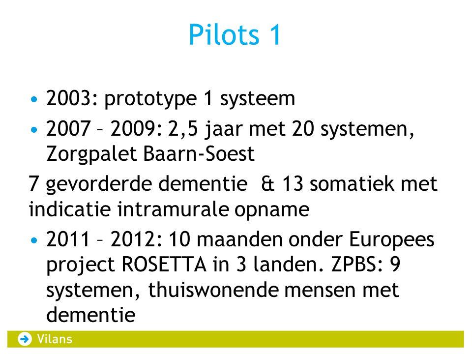 Pilots 1 2003: prototype 1 systeem