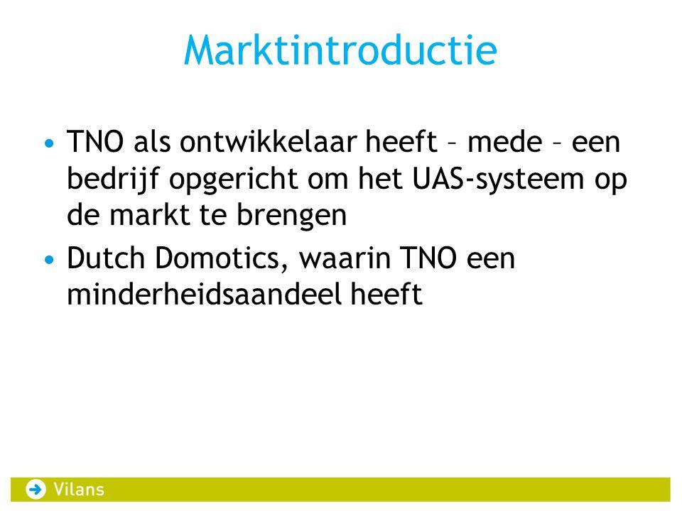 Marktintroductie TNO als ontwikkelaar heeft – mede – een bedrijf opgericht om het UAS-systeem op de markt te brengen.