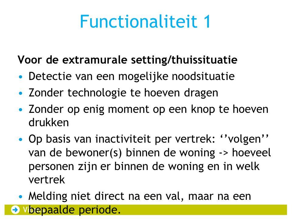 Functionaliteit 1 Voor de extramurale setting/thuissituatie