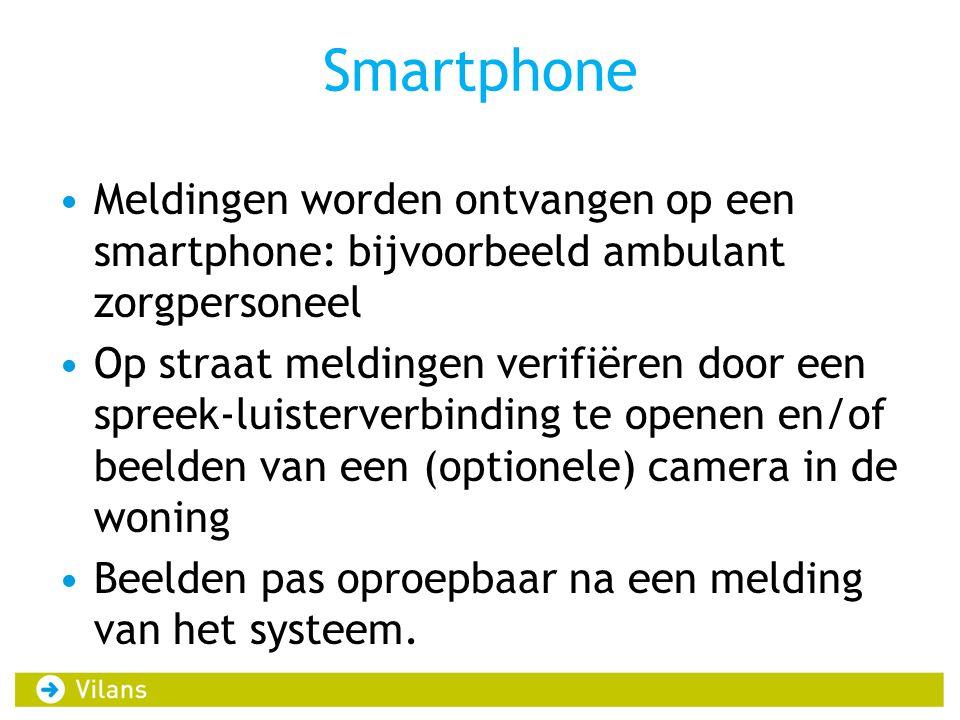 Smartphone Meldingen worden ontvangen op een smartphone: bijvoorbeeld ambulant zorgpersoneel.