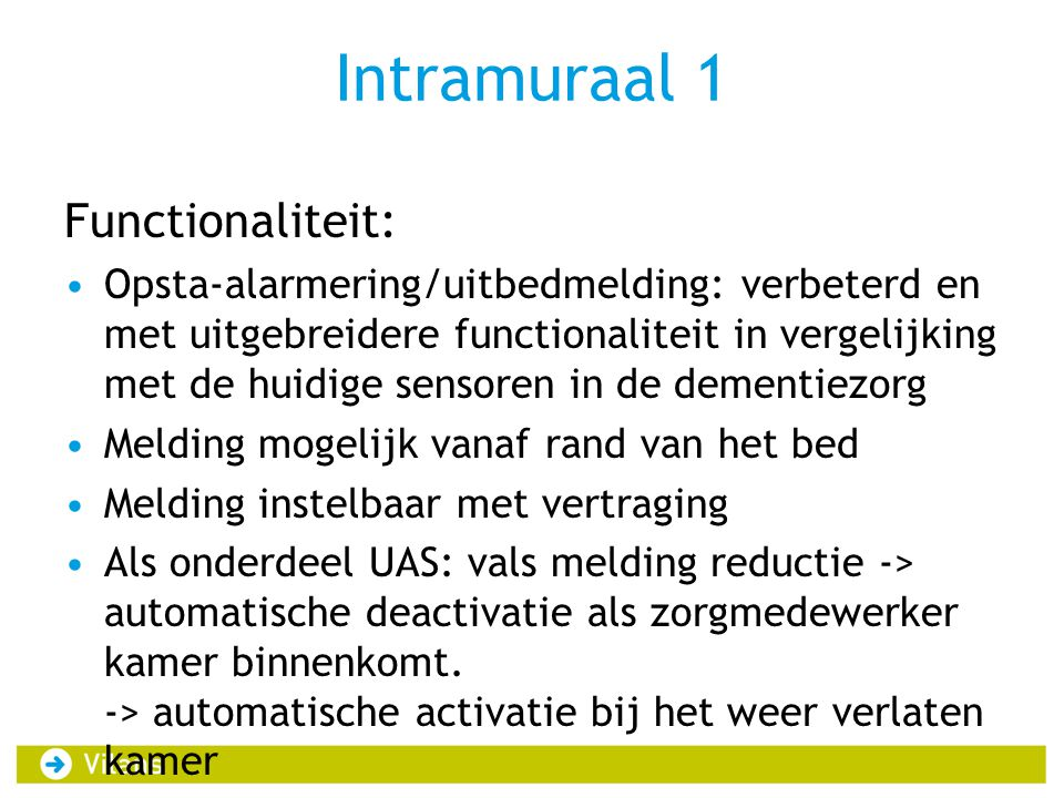 Intramuraal 1 Functionaliteit: