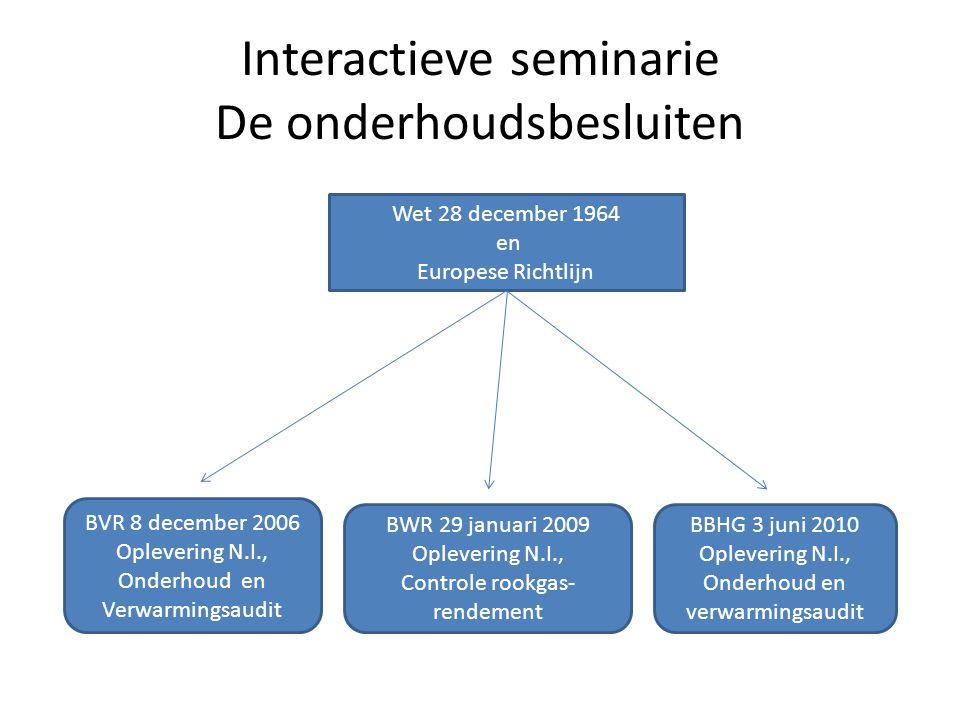Interactieve seminarie De onderhoudsbesluiten