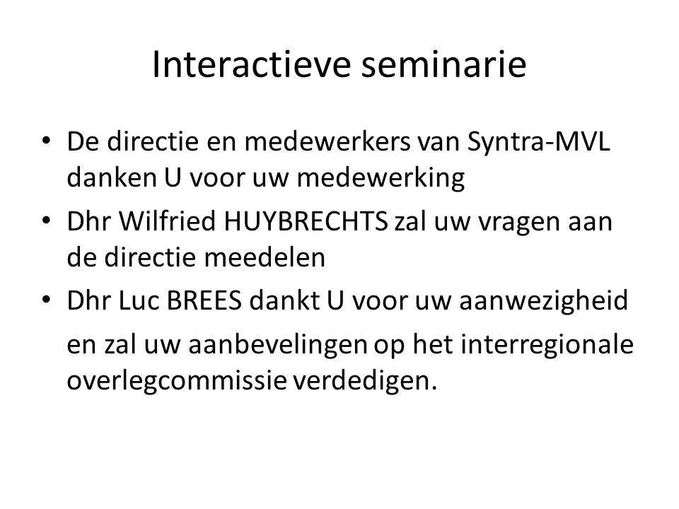 Interactieve seminarie
