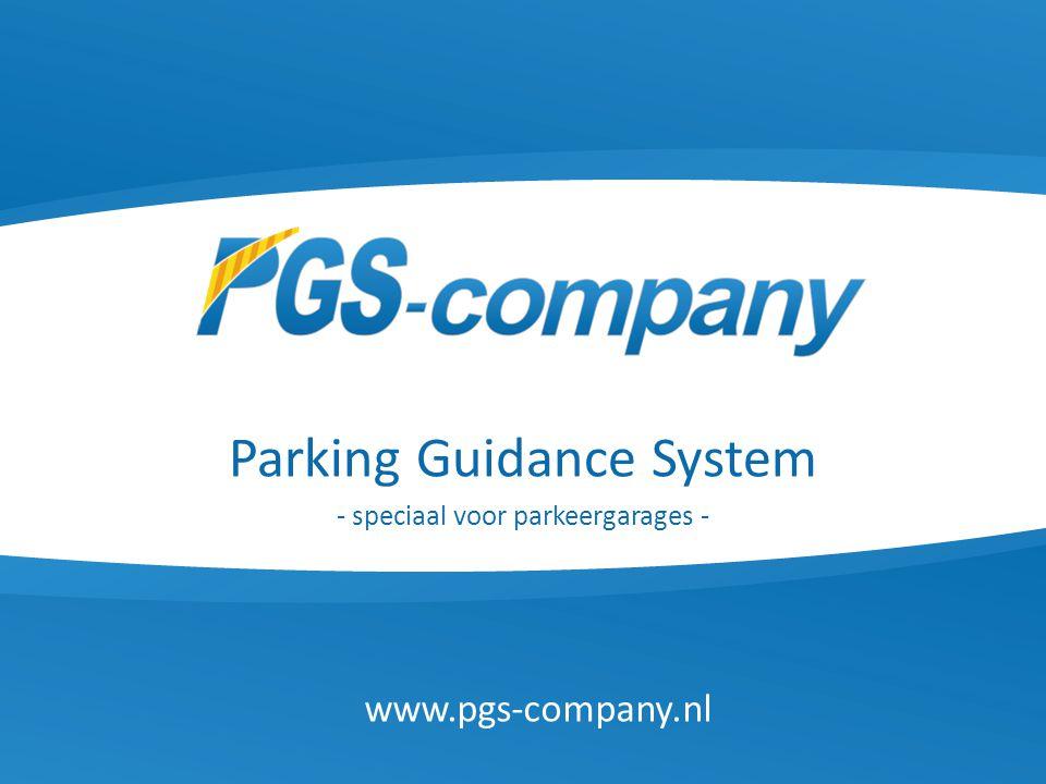 Parking Guidance System - speciaal voor parkeergarages -