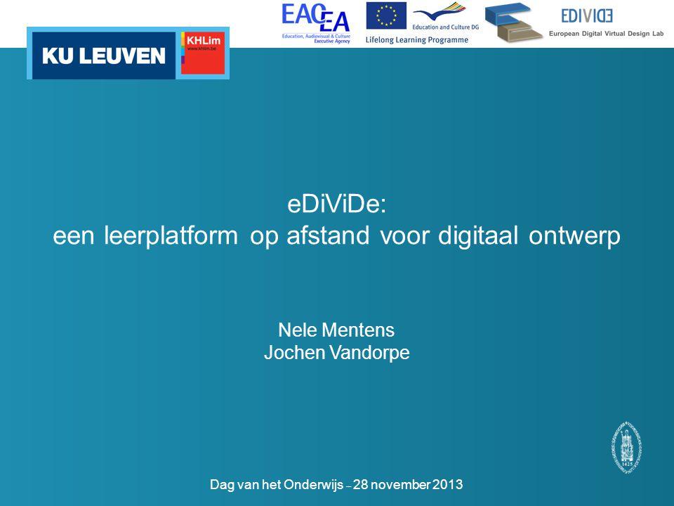 eDiViDe: een leerplatform op afstand voor digitaal ontwerp