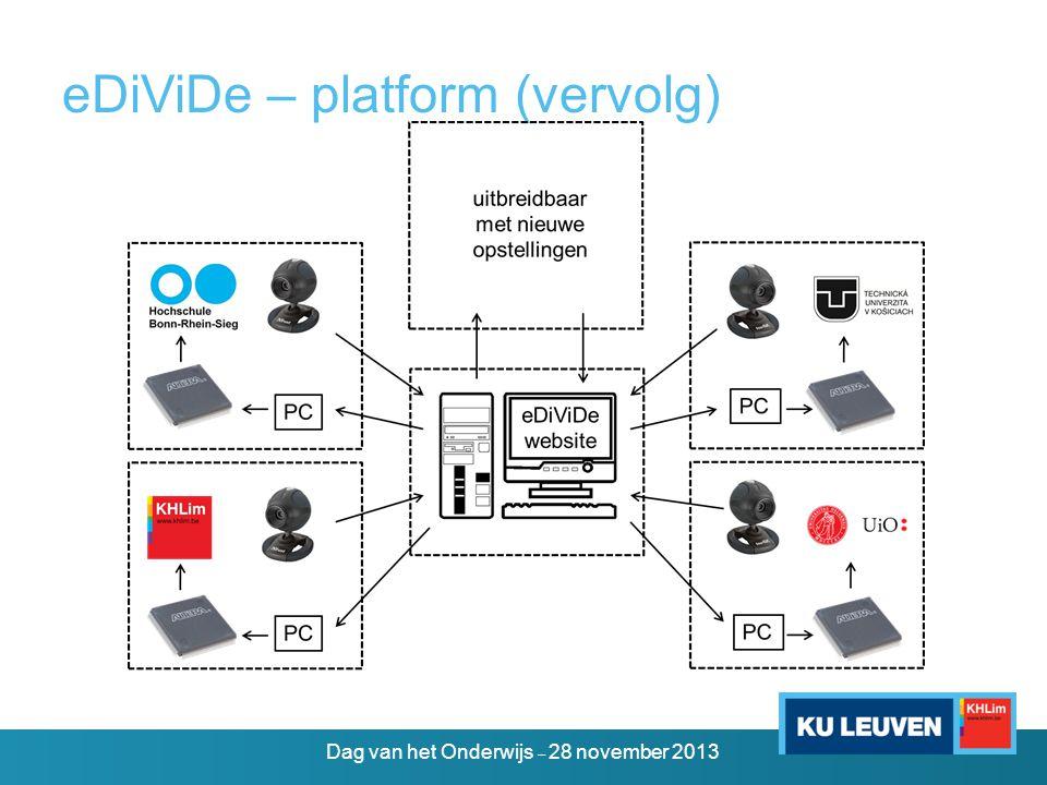 eDiViDe – platform (vervolg)