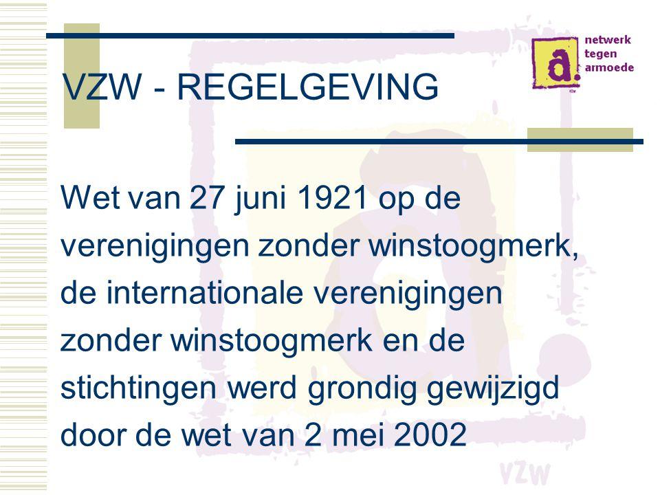 VZW - REGELGEVING