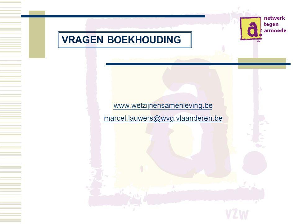 VRAGEN BOEKHOUDING www.welzijnensamenleving.be
