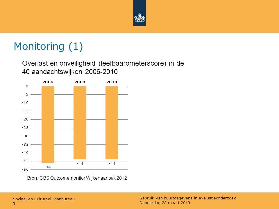 Monitoring (1) Overlast en onveiligheid (leefbaarometerscore) in de 40 aandachtswijken 2006-2010. Bron: CBS Outcomemonitor Wijkenaanpak 2012.